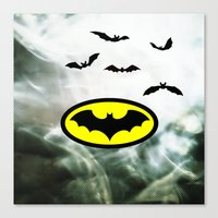 bat man Canvas Prints featuring Bat man  by haroulita