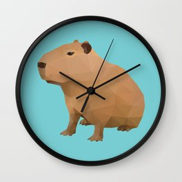 Capybara Polygon Art Wall Clock