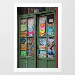 Madrid shop front Art Print