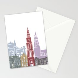 Groningen skyline poster Stationery Cards