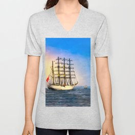 Sail Boston - Union Unisex V-Neck