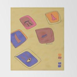 Pieces of Meces Throw Blanket