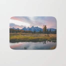 Grand Teton Sunset Bath Mat