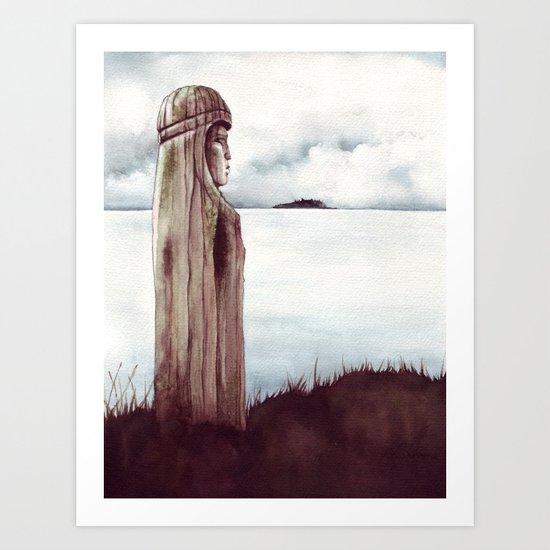 Tunstal Bay Totem Art Print
