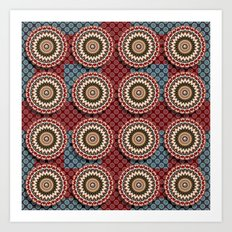 Elegance Emblems Pattern Art Print