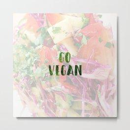 Go Vegan Metal Print