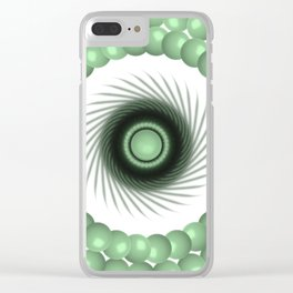 A Touch of the Green Eye Clear iPhone Case