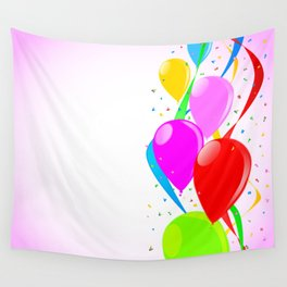 Pink Party Background Wall Tapestry