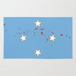 Micronesia Flag with Map of Micronesia Rug
