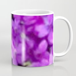 Expressive Purple Wildflowers Coffee Mug