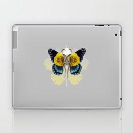 Bird skull and yellow roses Laptop & iPad Skin