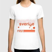 sweden T-shirts featuring Sweden stamp  by Little Parcels Shop