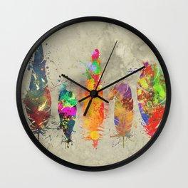 Feathers - splat Wall Clock