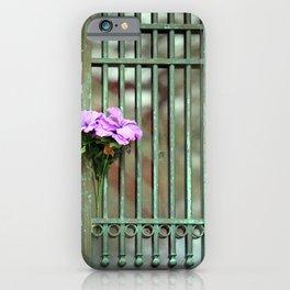 Door With Flowers iPhone Case