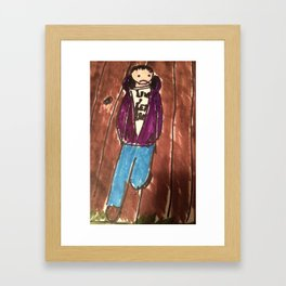 New Goth Boy hanging out  Framed Art Print