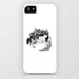 Cow - Go Vegan iPhone Case