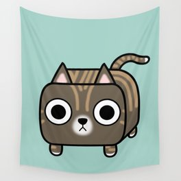 Cat Loaf - Brown Tabby Kitty Wall Tapestry