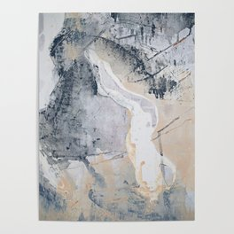 As Restless as the Sea: a minimal abstract painting by Alyssa Hamilton Art Poster