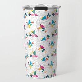 Deconstructed Tangrams Travel Mug