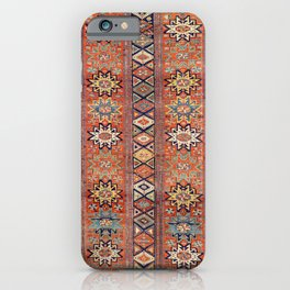 Southwestern Farmhouse I // 19th Century Colorful Red Yellow Blue Green Aztec Farm Stars Pattern iPhone Case