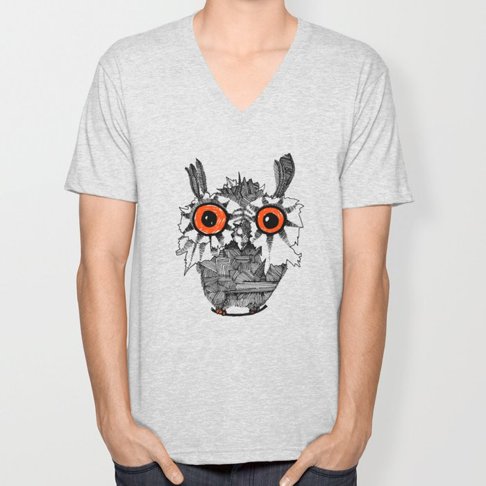 Small Owl Unisex V-Neck