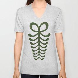 """Aya """"Fern""""   Adinkra symbol of endurance and resourcefulness Unisex V-Neck"""