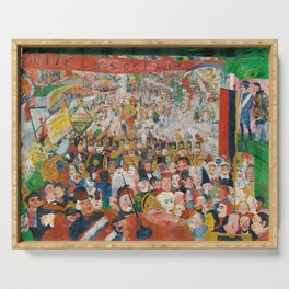 Christ's Entry into Brussels by James Ensor, 1889 Serving Tray