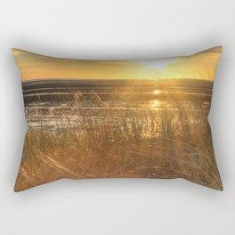 Beautiful Welsh Beach Sunset Rectangular Pillow