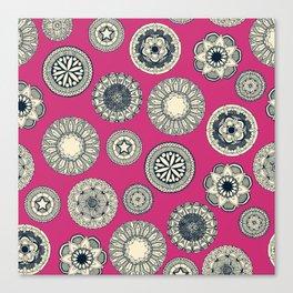 mandala cirque spot pink Canvas Print