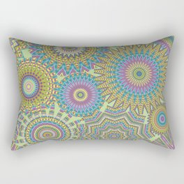 Kaleidoscopic-Jardin colorway Rectangular Pillow
