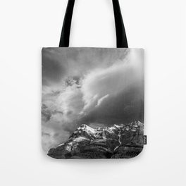 Landscape Photography | Mountain and Clouds Jasper, Alberta Tote Bag
