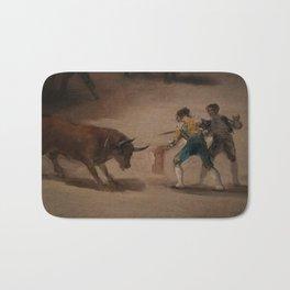 Bullfight in a Divided Ring Bath Mat