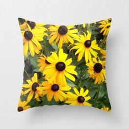 Black Eyed Susan Mob Throw Pillow