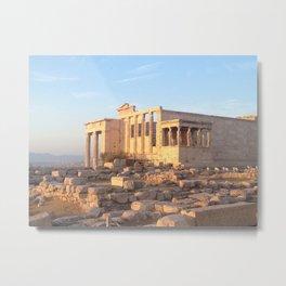 The Acropolis in Athens, Greece Metal Print