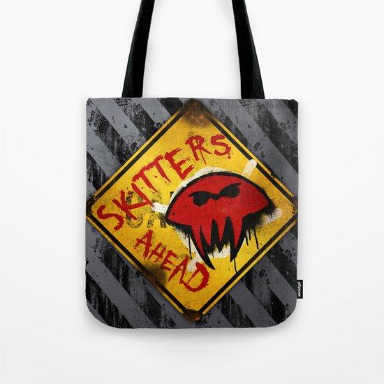 Caution: Skitters Ahead (Falling Skies) Tote Bag