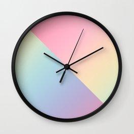 Geometric abstract rainbow gradient Wall Clock