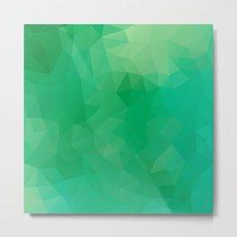 """Fresh spring grass"" geometric design Metal Print"