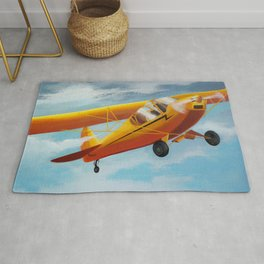 Yellow Plane, Blue Sky Rug