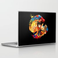 luffy Laptop & iPad Skins featuring Luffy Attack by feimyconcepts05