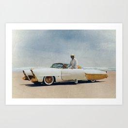 Golden Sahara Daytona Beach Art Print