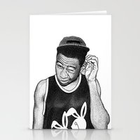 tyler the creator Stationery Cards featuring Tyler the Creator by Rui Faria