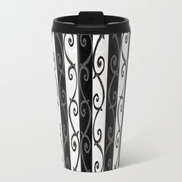 Burtonesque Stripes and Swirls.. Travel Mug