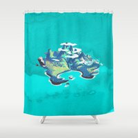 neverland Shower Curtains featuring Disney's Peter Pan Neverland by foreverwars