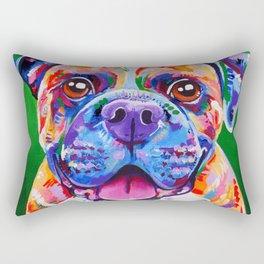 Boxer Dog Bright Painting Rectangular Pillow