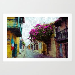 Old Cartagena Art Print