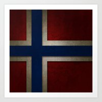 norway Art Prints featuring Norway by The Traveller, Wanderlust and Me