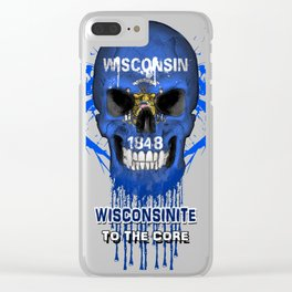 To The Core Collection: Wisconsin Clear iPhone Case