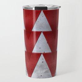Triangles on grunge Travel Mug