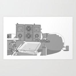 Louder than normal. Art Print