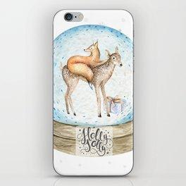 Christmas deer #3 iPhone Skin